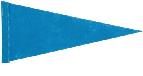 6 ft. Blue Pennant Bicycle Safety Flag with Rear Axle Mounting Bracket (Bike Flag)