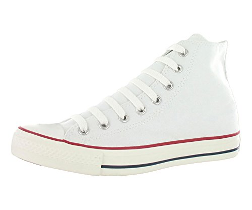 Converse Mens Chuck Taylor All Star High Top, 10.5 Men 12.5 Women, Optical White