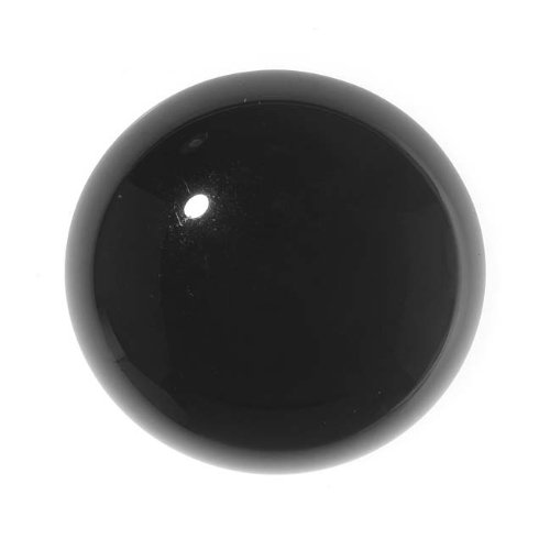 Black Onyx Gemstone Round Flat-Back Cabochons 25mm (1 (Cabochon Gem)