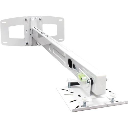 Optoma BM-3300ST Dual Stud Short Throw Projector Wall Mount with Telescoping Arm (White)