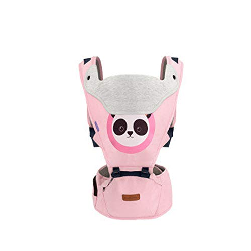 NBLYW Baby Carrier with Hip Seat Soft,Breathable Baby Carriers, Adjustable Newborn to Toddler Carrier, Multi-Function Children's Waist Stool Strap,Pink