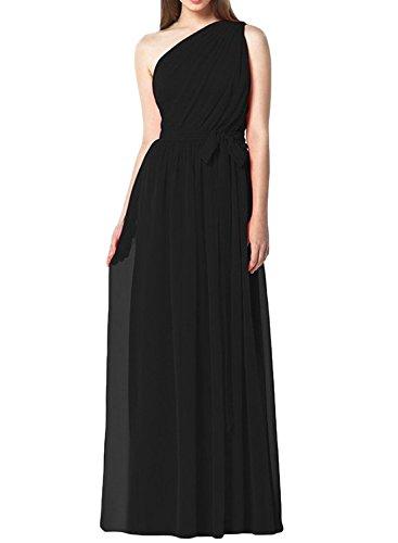 Dress Waist Evening Light Shoulder One Long Women's Purple ASVOGUE Tie wqSx7nT