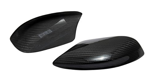 - Dry Carbon Fiber Door Side Mirror Lower Covers for 2009-2016 Nissan GT-R R35
