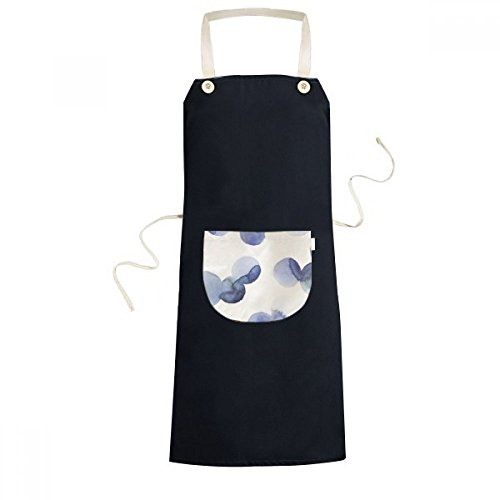 cold master DIY lab Halo Abstract Plants Art Pattern Cooking Kitchen Black Adjustable Bib Apron Pocket Women Men Chef -