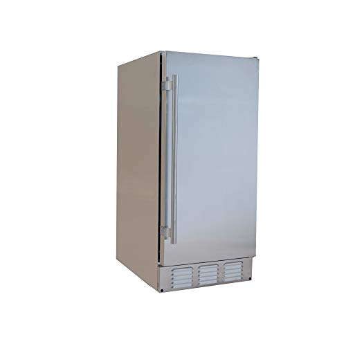 EdgeStar IB250SSOD 15 Inch Wide 20 Lbs. Built-in Outdoor Ice Maker with 25 Lbs. Daily Ice Production - No Drain Required