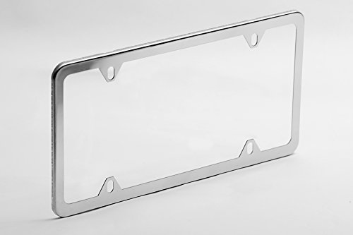 4-Hole | License Plate Frame | Theft Resistant | Polished