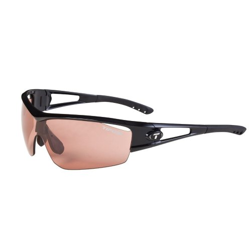 Tifosi Logic Sport Sunglasses,Gloss Black Frame/High Speed Red Fototec Lens,one size ()