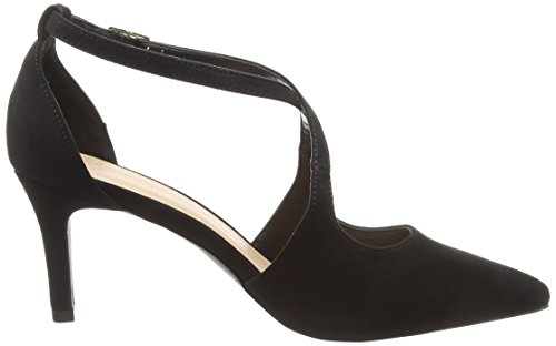 New Look Women's Wide Foot Swirly Closed Toe Heels Black (Black 1) n9G3u