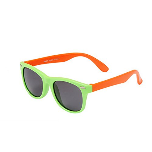 Meanhoo Colorful UV Protection Silicone Elastic Bright Frame for Children Boys and Girls ,Retro Fashion Polarized Lens Children Sunglasses - Sunglasses Locs Gucci