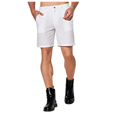 Mwzzpenpenpen Fashion Men's Solid Color Trunks Beach Pocket Fitness Sport Casual Shorts Cargo Quickly Dry Loose Pants