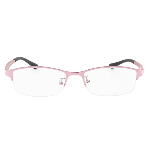 métal lunettes mode lunettes trame Mâle résine en demi lentille cadre Aiweijia myopes Femme en Rose rétro 8wPtgSq