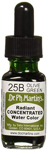 Dr. Ph. Martin's Radiant Concentrated Water Color, 0.5 oz, Olive Green (25B)