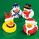 Holiday Christmas Rubber Duckies (Pack of 12), Baby & Kids Zone