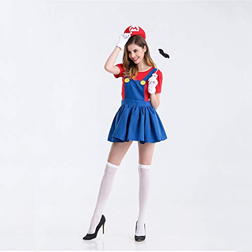 Yunfeng Women Santa Claus Costume Makeup Ball Cos Clothing Adult Annual Meeting Christmas Costume Fancy Dress Adult Christmas Party Cosplay Costume ()
