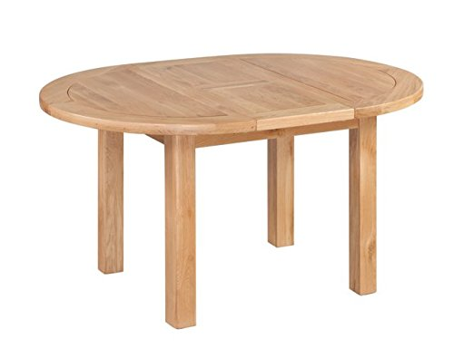 Trithi Furniture Rancho American Solid Oak Oval Extendable Table and Wood Seat Chair Set of 5 - Natural Oak - 100% American Solid Oak Oval Extendable Table and Wooden Seat Chairs in Natural Color Table and Chair Dimensions (Inch): L57.00/42.00, W:42.00, H:30.00 | L16.50, W:18.00, H:40.50 - kitchen-dining-room-furniture, kitchen-dining-room, dining-sets - 313VDCox5bL -