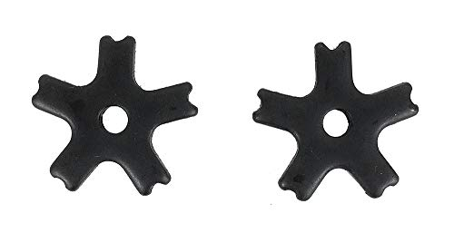AJ Tack Wholesale Western Bull Spur Rowels 1 1/4 Inch 5 Point Notched Black Steel Sold in Pairs ()
