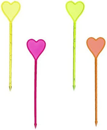 """Papstar Decorative Toothpicks'Heart"""" (8.5 cm in Assorted Colours-Pack of 250)"""