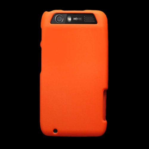 CoverON(TM) Matte Snap-On NEON ORANGE Hard Case Cover For MOTOROLA MB886 DINARA / ATRIX 3 With PRY-Triangle Case Removal Tool [WCP115] (Motorola Atrix Cases Low To High)