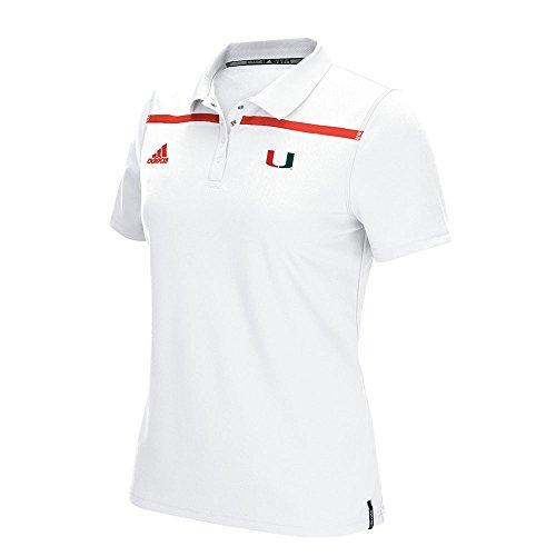 adidas Miami Hurricanes NCAA Sideline Climacool Performance Polo T-Shirt ()