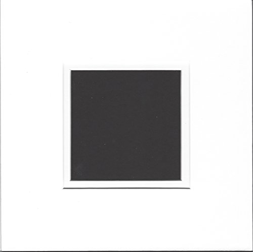 Square Double Bevel - Pack of 5 10x10 Square Double White and White Picture Mats with White Core Bevel Cut for 6x6 Pictures