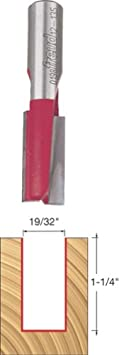 Dia. 12-134 Double Flute Straight Bit with 1//2 Shank Freud 9//16