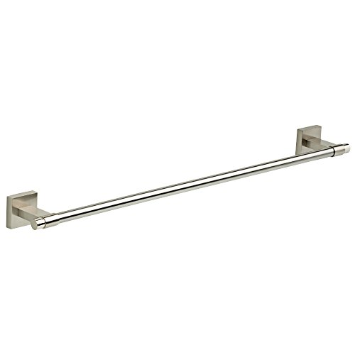 Rack Nickel Chrome Towel (Franklin Brass  MAX24-SN Maxted 24 inch Towel Bar Rack, Satin Nickel)