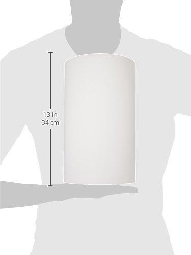 Dainolite Lighting 83204PL13-WH 1-Light Fluorescent Wall Sconce PL13 White Glass Includes 1 DSE13 Bulb