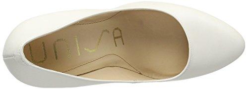 Unisa Patric_17_n, Zapatos de Tacón para Mujer Blanco (Bone)