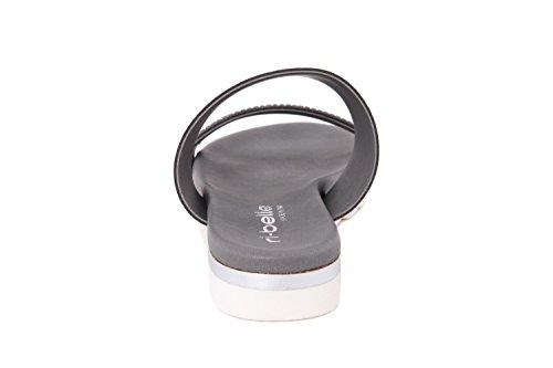 RI-BELLE - Sandalias de Piel para mujer gris gris