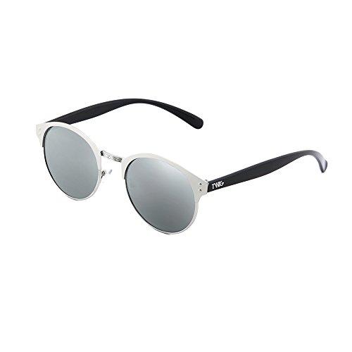 TWIG Plata PISSARRO Gafas mujer hombre redondo espejo de sol Plata xwq8Pq