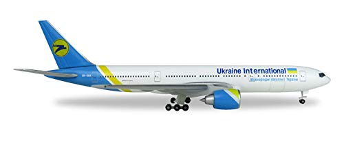 Herpa 531122 Vehicle Ukraine International Airlines Boeing 777 200 - UR - International Airlines