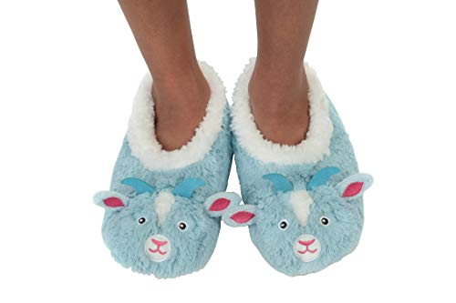 Snoozies Womens Furry Foot Pals (Goat, Large)