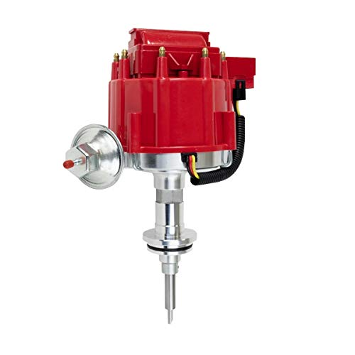 A-Team Performance Complete HEI Distributor Compatible with Mopar, Chrysler, Dodge, Plymouth V8 Engines 273 318 340 340 360 65K COIL Red Cap One Wire