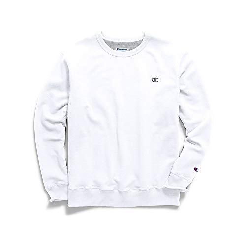 Champion Men's Powerblend Pullover Sweatshirt, White, XX-Large