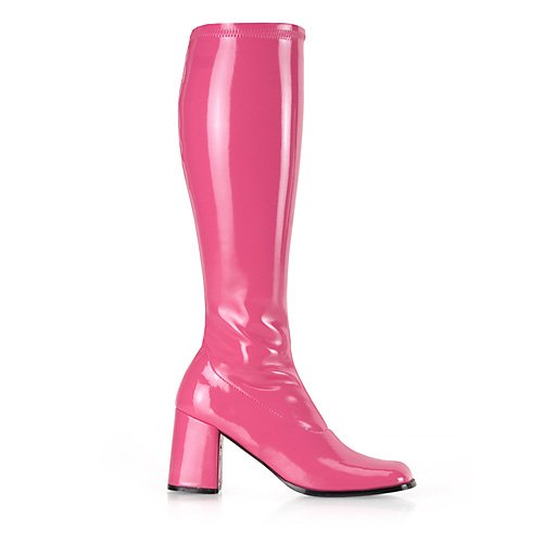Hot Pink Patent Knee Boots (GOGO-300 3