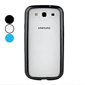 NEW TPU Bumper PC Hard Case for Samsung Galaxy S3 I9300 (Assorted Colors) , White