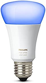 Philips Hue White and Colour Ambience Wireless Lighting 10 W E27 Richer Colours LED Light Bulb, Apple HomeKit Enabled, Works with Alexa