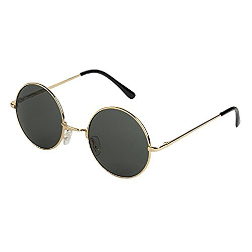 Mechaly Classic Lennon Style Gold - Sunglasses Gold Round