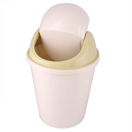 Amazon.com: eDealMax plástico la cocina casera de basura contenedor de residuos de la camada Papelera de Oliva amarillento Amarillo: Industrial & Scientific