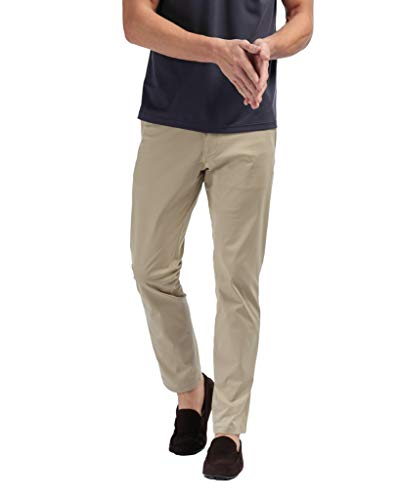 (Rhone Commuter Pant Slim Khaki 33 | Men's Pants Made from a Luxurious Japanese Stretch Fabric and with Moisture Wicking Features)