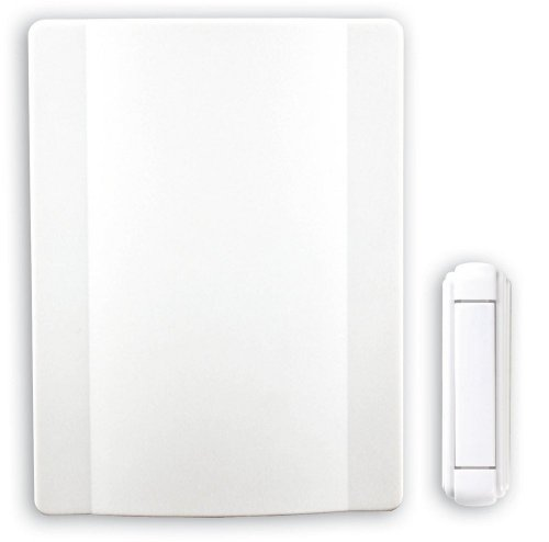 Heath Zenith SL-6505-00 Traditional Décor Series Wireless Mechanical Chime, White (Heath Zenith Outlet)