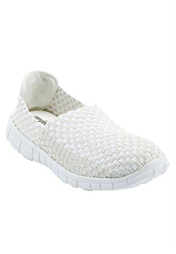 Négocier Catalogue Outlet Comfortview Plus Taille Ria Tissé Sneaker Blanc