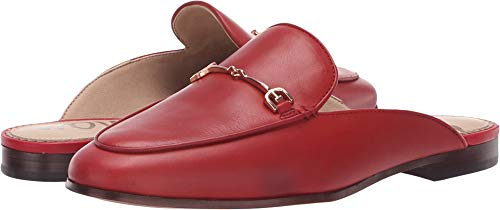 Sam Edelman Women's Linnie Mule, deep red Leather, 9.5 M US