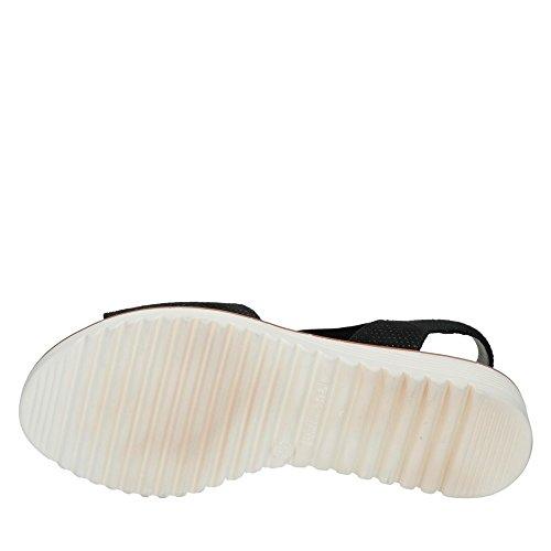 Jenny 22-57513-66 Belize Damen Sandale Aus Feinem Lederimitat Luftpolstersohle Schwarz