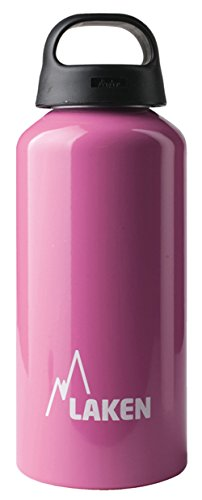 Laken Classic Water Bottle Wide Mouth Screw Cap with Loop - 20oz, Pink by Laken