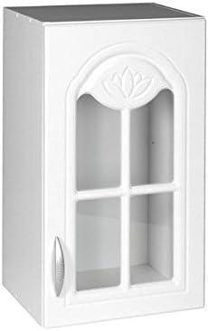 Meuble de cuisine haut DINA 40 cm 1 porte vitrée blanc ...