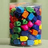 Medium Plastic Dreidels - 100/ Bag