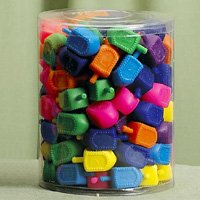 - Medium Plastic Dreidels - 100/ Bag