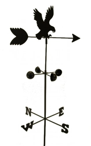 Weather Vane Eagle 6 Feet Tall Black Garden Mount Yard Decor