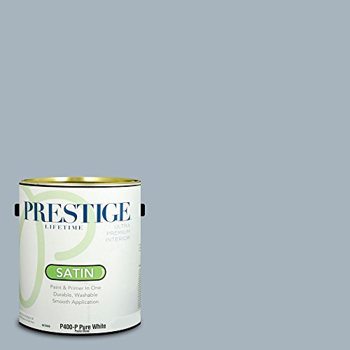 Prestige Paints Interior Paint and Primer In One, 1-Gallon, Satin, Comparable Match of Behr Intercoastal Gray - Paint Bedroom